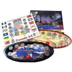 1999/2000 Canada Millennium 25-cent Sets. You will receive 2x 1999 & 2x 2000 25-cent sets. 4pcs.