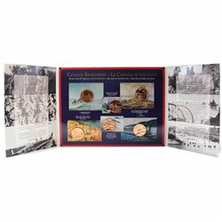 """Canada Remembers - World War II Through the Painter's Eye"" 6-coin Medallion Commemorative Set in Il"