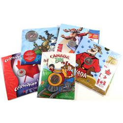 2004-2009 Canada Day Coloured 25-cent Collection. You will receive 2004, 2006, 2007, 2008, and 2009.