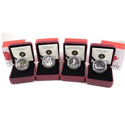 2013 Oh Canada $10 Fine Silver Coin Collection (Tax Exempt). You will receive Polar Bear, Inukshuk,