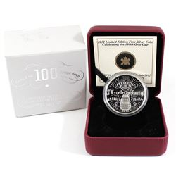 2012 Canada $1 100th CFL Grey Cup Limited Edition Proof Fine Silver Coin (sleeve has residue and a s