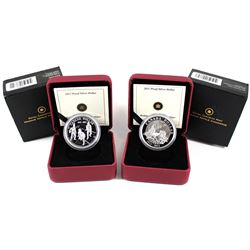 2011 Parks Canada 100th Anniversary & 2012 Canada War of 1812 Bicentennial Proof Silver Dollars (201