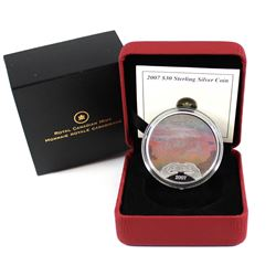 2007 Canada $30 Panoramic Camera: Niagara Falls Sterling Silver Coin.