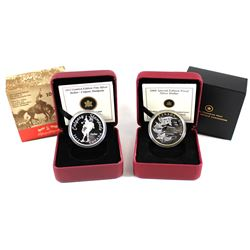 2008 Canada $1 Royal Canadian Mint Centennial Special Edition Proof Sterling Silver & 2012 $1 Calgar