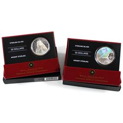 2006 Canada $30 Canadarm & 2007 $30 Vimy Ridge Sterling Silver Coins. 2pcs