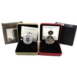 2004 Canada Special Edition The Poppy Proof Silver Dollar & 2011 Special Edition 1911 Silver Dollar