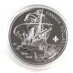 2004 Canada Settlement Fleur De Lys Privy Dollar Proof Like in Capsule.
