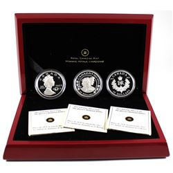 2012 Canada $20 Queen's Diamond Jubilee Fine Silver 3-Coin Set (missing outer box, case has residue