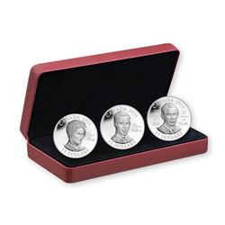 2011 Canada $15 Continuity of the Crown Sterling Silver 3-Coin Set.