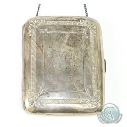 W. H. Saart Co. Sterling Silver Card Purse Monogrammed E.H.S.