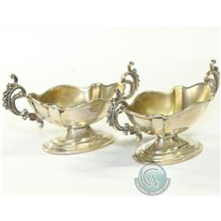 Pair of 1899 John Millward Banks Sterling Silver Salt Cellars. In Wonderful collectable condition. E