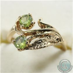 Lady's 10K Yellow Gold Peridot Ring - Size 5 1/2. 3.2 grams.