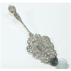 Antique Dutch Silver Cake/Pastry Server Containing the Amsterdam City Crest. 80.9 grams.