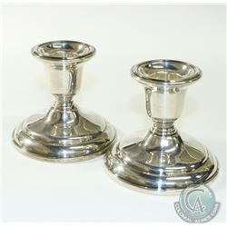 "Pair of Birks Sterling Silver Weighted Candle Stick Holders. Stand Approximately 3"" high."