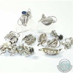 Vintage Bond Boyd Sterling Silver Twist back Earring Lot. You will receive 10 Pairs of Earrings in t