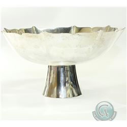 "GORHAM Sterling Silver Footed Bowl with Standish Pattern. Stands 4"" Tall and has a diameter of 8"". 4"