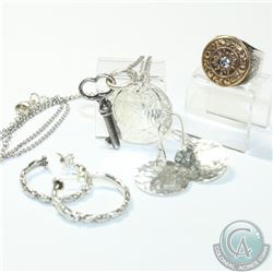 Karyn Chopik Studio Sterling Silver Collection. You will receive 2 Pairs of Earrings, 2 Pendants on