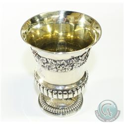 1818 London; William Eaton Sterling Silver Wine Chalice. This beautiful piece stands 5 inches in hei