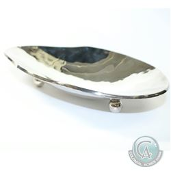 "Vintage Mexico Sterling Silver Modernist Bowl with Feet. This 3 Footed Bowl Measures 9 3/4"" x 7 1/2"""