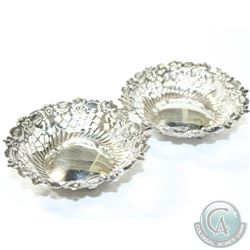 1895 Chester; James Deakin & Sons Sterling Pierced Nut/Bon Bon Dishes- This unique item contains two