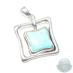 "Vintage BARSE Sterling Silver & Turquoise Pendant. 18.42 grams and measures 1 1/4"" x 1 1/4""."