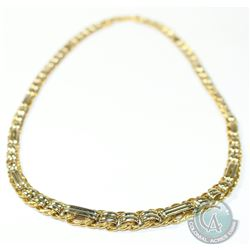 "Lady's 18K Italy Yellow & White Gold Necklace. Measures 18"" in length.  25grams."