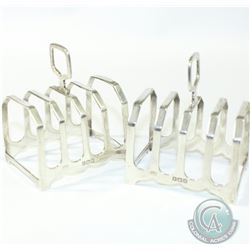 "1939 'Birmingham' S Blanckensee & Son Ltd. Sterling Silver Toast Racks.  Measuring 3 3/4"" x 2"". Tota"