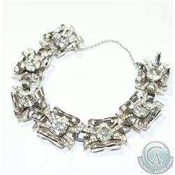 Circa. 1945 Coro Craft by  'Adolph Katz'  Sterling Silver Bracelet.  This beautiful Vintage piece ha