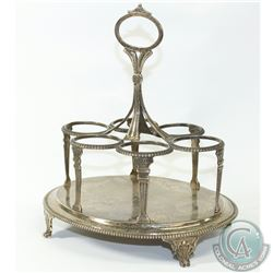 1806 'London' John Emes Sterling Silver Cruet Stand.  This solid Stand contains a Gadroon Design wit
