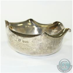 1886 'London' Hukin & Heath Sterling Silver Bowl.  This charming bowl contains flared upper rim and