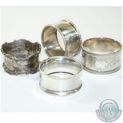 BIRKS Sterling Silver Napkin Ring Holder Collection. You will receive 4 unique pieces in this collec