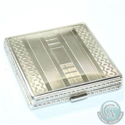 "Vintage Charme Sterling Silver Lady's Compact. Measures 2 1/4"" x 2 1/4"" with a total weight of 91.60"