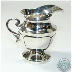 Vintage 'Mexico' Juventino Lopez Reyes Sterling Silver Creamer/Jug. This solid piece contains a Mode
