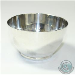 Vintage 'Mexico' Juventino Lopez Reyes Sterling Silver Bowl.  This solid Bowl contains a simplistic