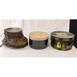 Group of Antique Hat Boxes