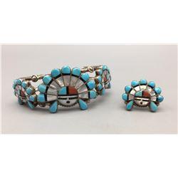 Zuni Inlay Ring and Bracelet