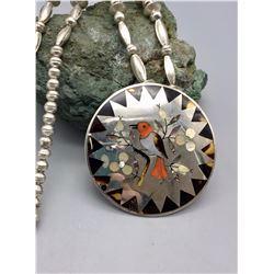 Zuni Inlay Necklace - Guardian