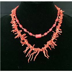 Two Coral Style Necklaces