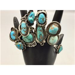 Group of 10 Vintage Turquoise Rings