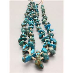 Double Strand Turquoise and Heishi Necklace