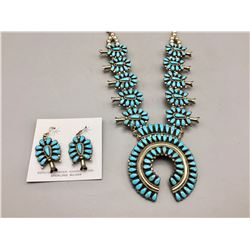 Squash Blossom Necklace and Earring Set