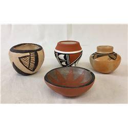 Group of Pueblo Mini Pots