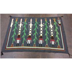 1970s Vintage Navajo Pictorial Textile