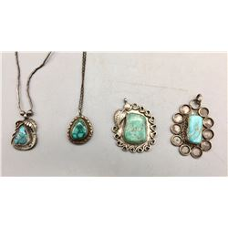 Group of Vintage Turquoise Pendants