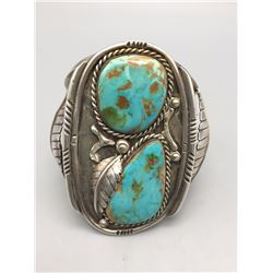 Vintage Two-Stone Turquoise Bracelet