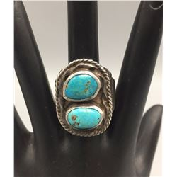 Vintage Two-Stone Turquoise Ring