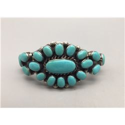 Multi Turquoise Stone Bracelet - Signed