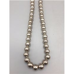 Sterling Silver Bead Necklace