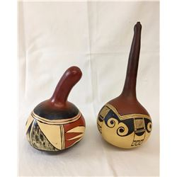 Pair of Hand-painted Apache Rattles