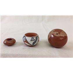 3 Fine Mini Pueblo Pots